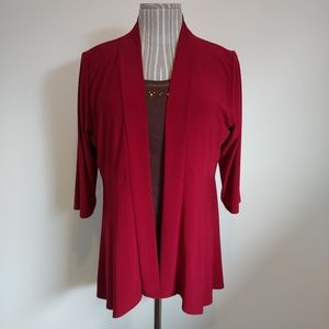 Claire France NWT 3/4 Sleeve Open Cardigan